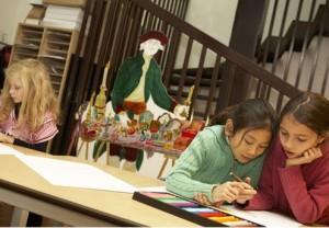 Des enfants-artistes à l'oeuvre